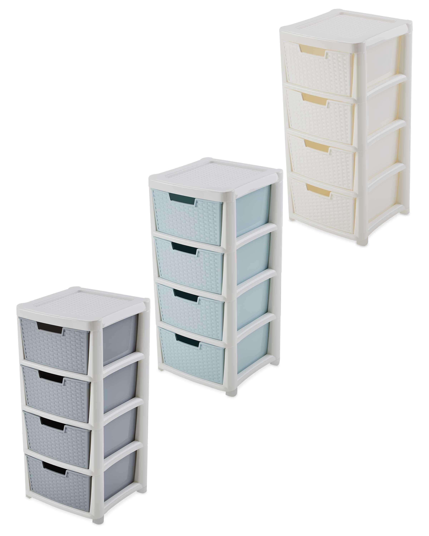 Premier rattan effect drawer tower aldi uk