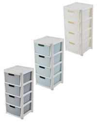 Premier Rattan Effect Drawer Tower