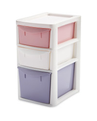 Premier Small 3 Drawer Tower Pink