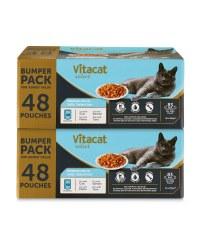 Premium Cat Pouches 96 Pack Fish