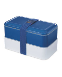 Premium Double Decker Lunch Box - Navy