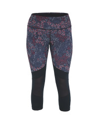 Crane Printed Ladies Crop Leggings