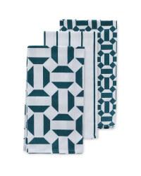 Tile Print Tea Towels 3 Pack