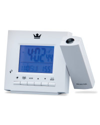 Projection Alarm Clock - White