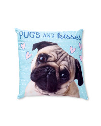 Pugs and Kisses Shaped Cushion