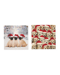 Puppies Mini Christmas Cards