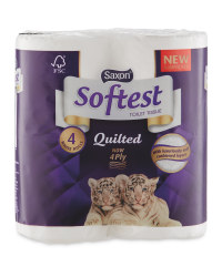 Quilted Toilet Tissue 4 Pack