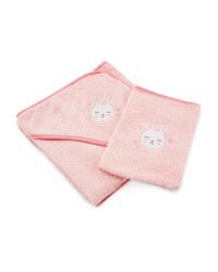 Rabbit Baby Towel & Wash Mitt