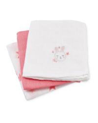 Rabbit Muslin Cloths 3-Pack