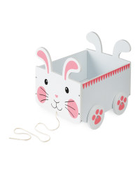 Rabbit Pull Along Storage Cart