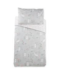 Rabbit Toddler Bed Duvet Cover Set