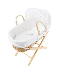 Rainbow Moses Basket With Stand