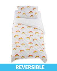 Rainbow Toddler Duvet/Pillowcase Set