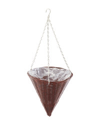 Gardenline Cone Hanging Basket - Chestnut