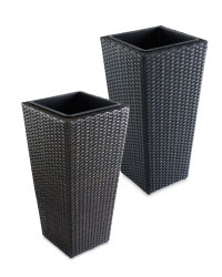 Rattan Effect Connical Planter