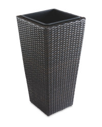 Rattan Effect Connical Planter - Brown