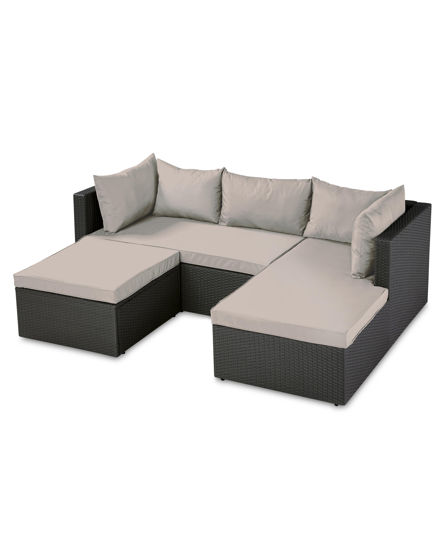 Rattan effect corner sofa set aldi uk