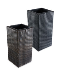 Rattan Effect Cubical Planter