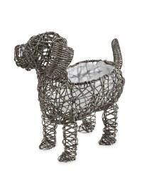 Gardenline Rattan Effect Dog Planter - Grey