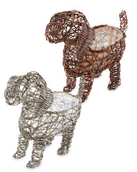 Rattan Effect Dog Planters