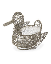 Rattan Effect Slate Duck Planter