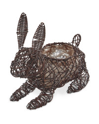 Gardenline Rabbit Planter - Brown