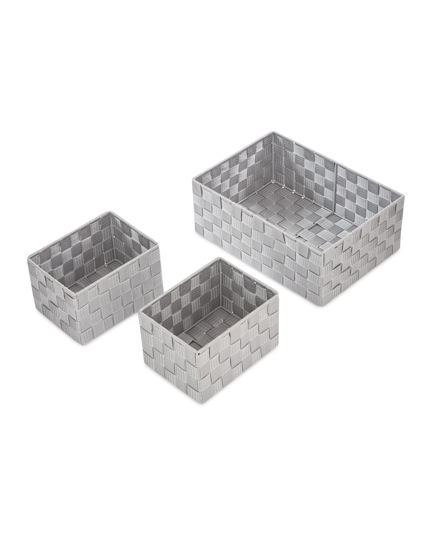 Rattan Effect Basket Set