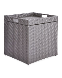 Rattan Style Storage Table Anth