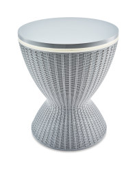 Small Rattan Table With Ice  Bucket