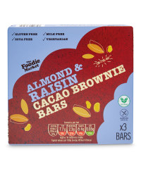 Raw Cacao Almond & Raisin Brownie