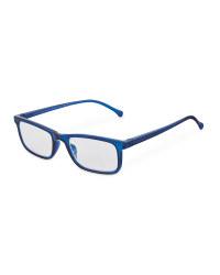 Blue Crystal Reading Glasses
