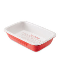 Rectangle Bakeware with Recipe Print - Red