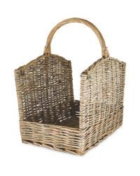 Rectangle Log Basket - Grey