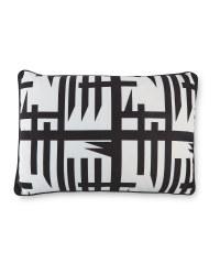 Rectangle Mono Lines Print Cushion