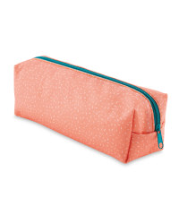 Script Coral Rectangle Pencil Case