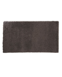 Rectangular Soft Feel Shaggy Rug - Dark Grey