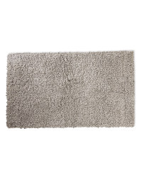 Rectangular Soft Feel Shaggy Rug - Light Grey