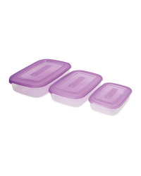 Rectangle Storage Containers 3 Pack - Berry