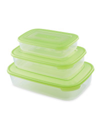 Rectangular Food Containers 3 - Pack - Green