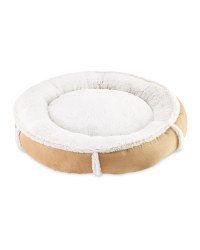 Recycled Donut Pet Bed - Brown