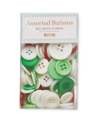Red, White and Green Button Box