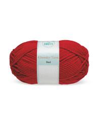 So Crafty Red Chunky Yarn