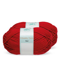 So Crafty Red Chunky Yarn 2 Pack