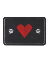 Red Heart Washable Pet Boot Mat