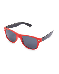 Red Kids Sunglasses with Case