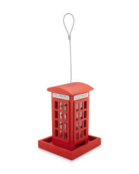 Red Phone Box Bird Feeder