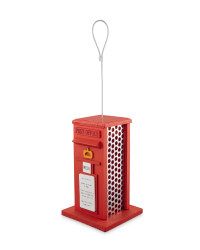 Red Post Box Bird Feeder