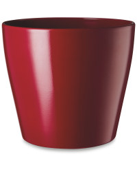 Red Shiny Ceramic Pot