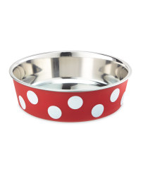 Red Spot Pet Bowl
