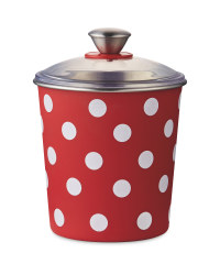 Red Spots Pet Treat Tin
